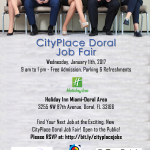 CityPlace Doral Job Fair. Presented by Doral Chamber of Commerce. Janury 11th, 2017