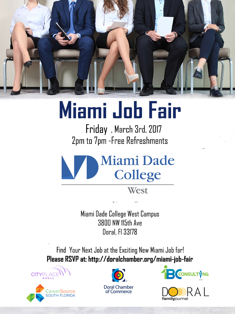 Miami Job Fair, a Doral Chamber of Commerce event.