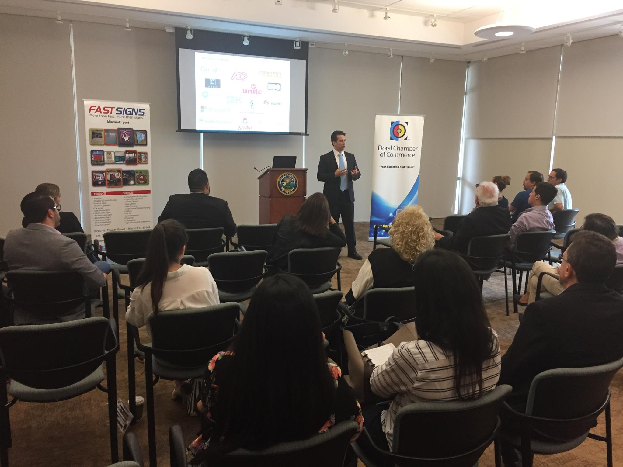 Startup Doral, a Doral Chamber of Commerce event, speech.