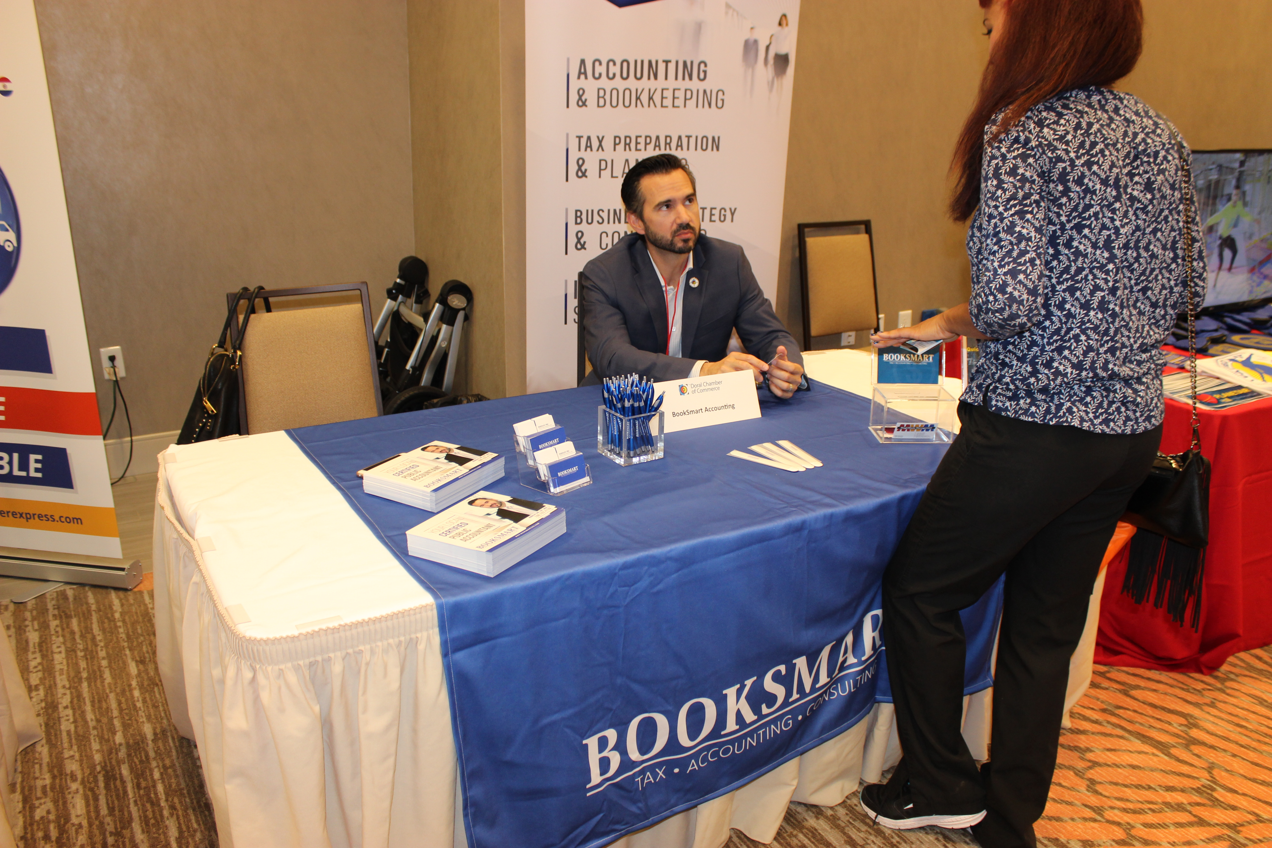Booksmart at PowerBusiness Expo May 2017, Doral Chamber of Commerce event.