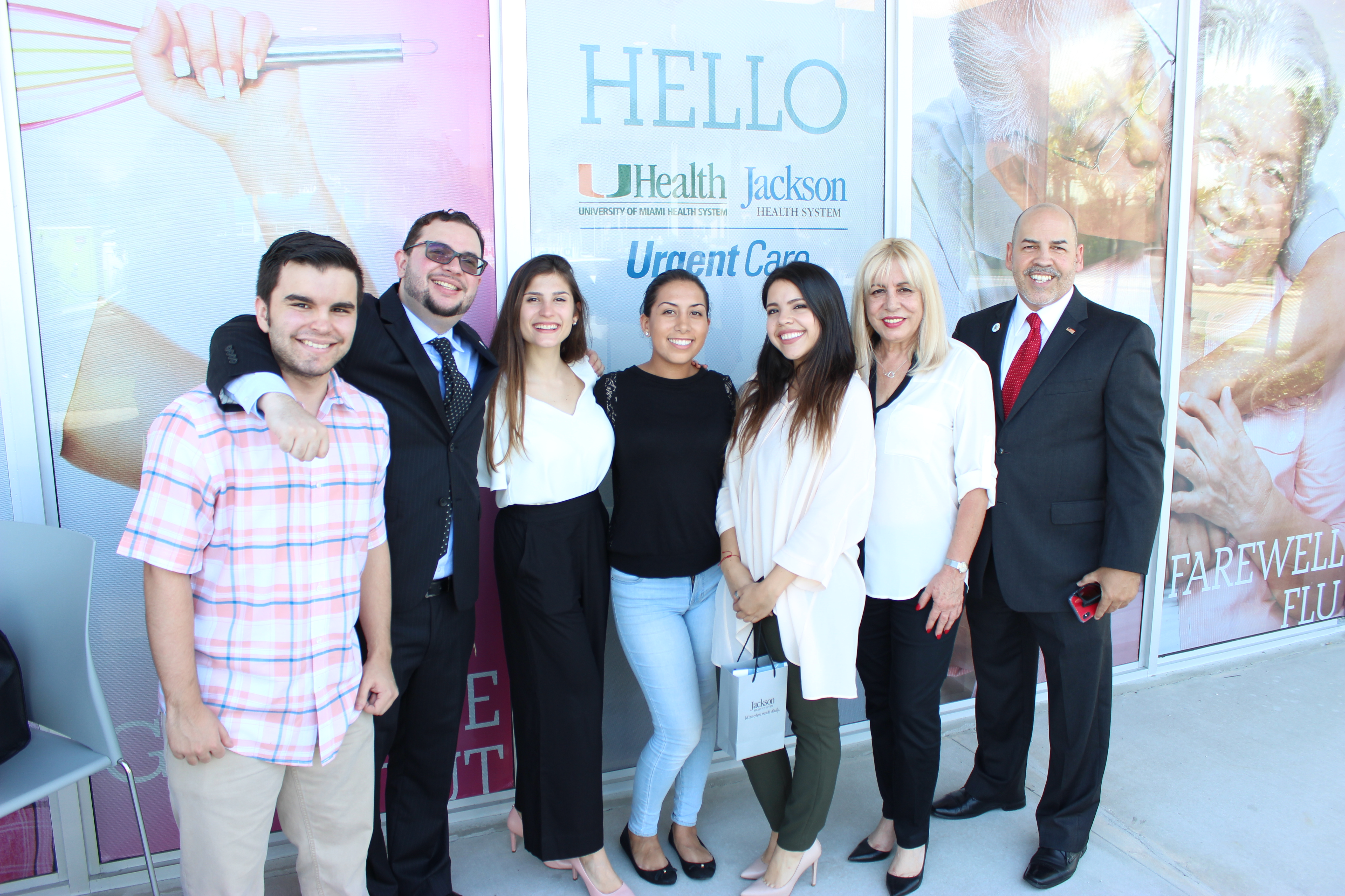 Doral Chamber of Commerce Team at Jackson Health System.