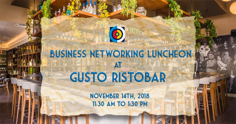 Doral Chamber of Commerce event for Business Networking Luncheon at Gusto Ristobar on November 14th, 2018.
