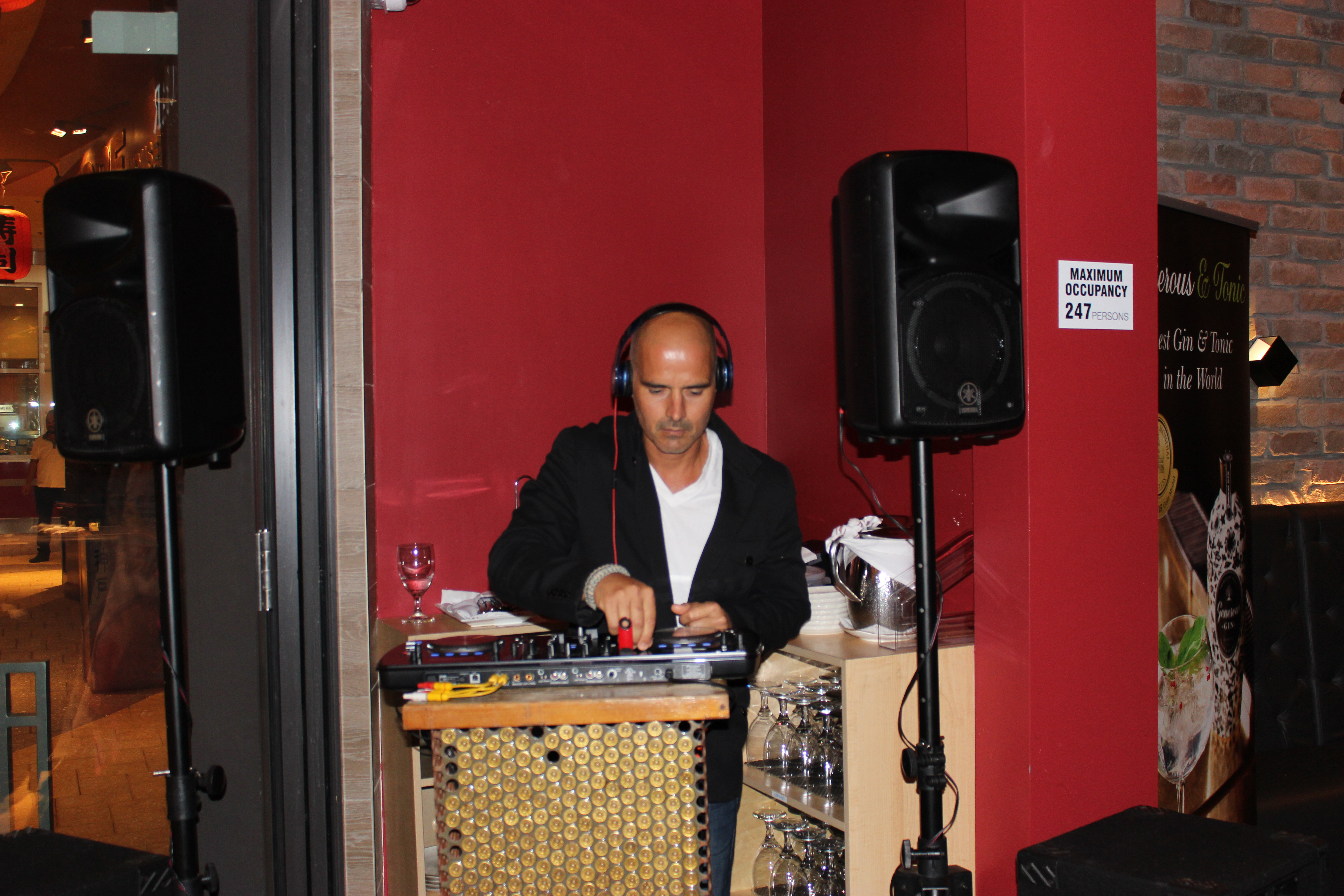 El Gran Inka Grand Opening DJ playing music.