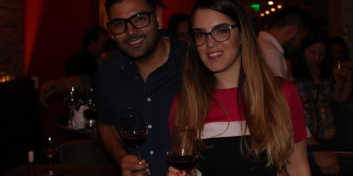 El Gran Inka Grand Opening, couple having wine.