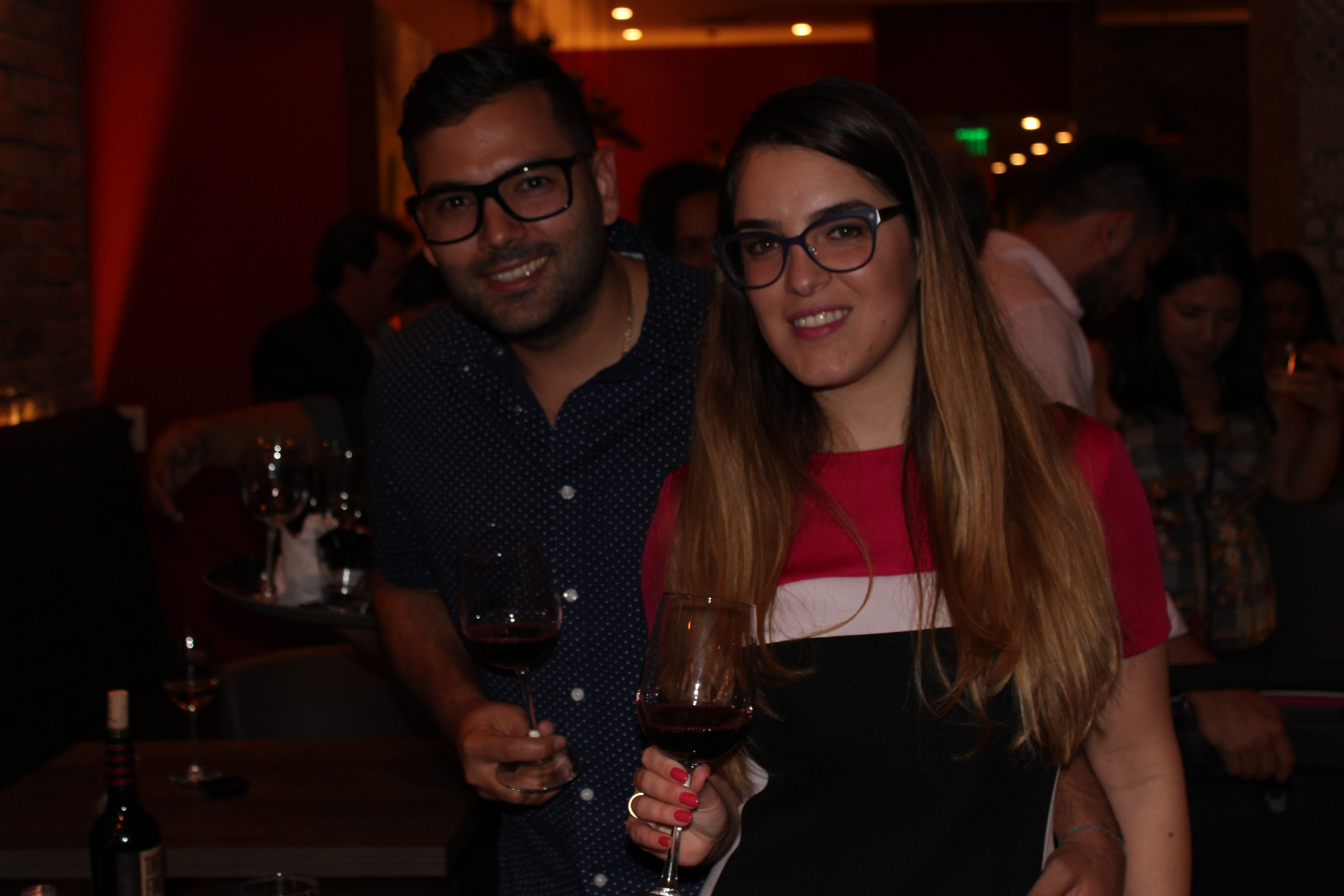 El Gran Inka Grand Opening, couple having wine.