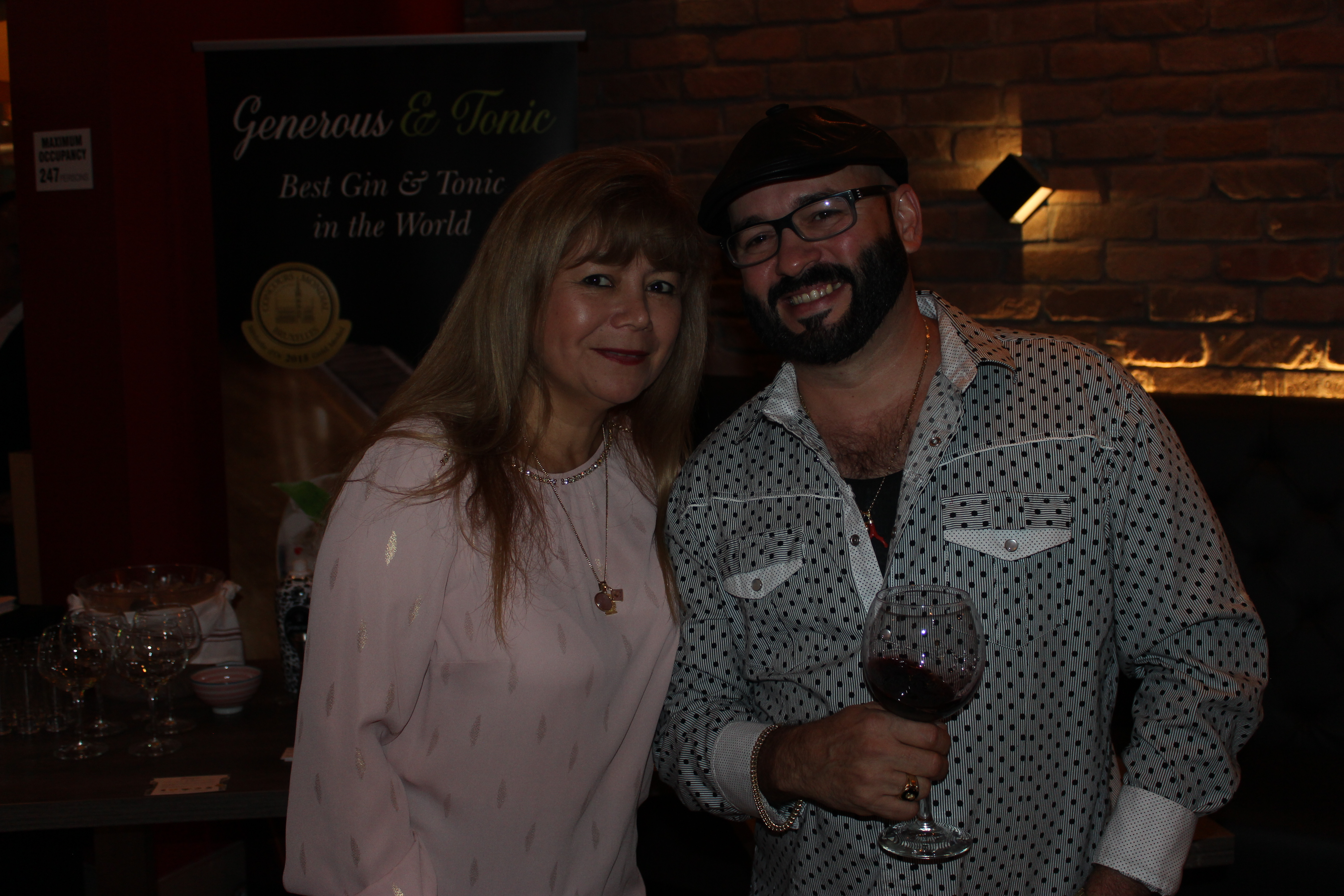 El Gran Inka Grand Opening hosted by Doral Chamber of Commerce, couple having a drink.
