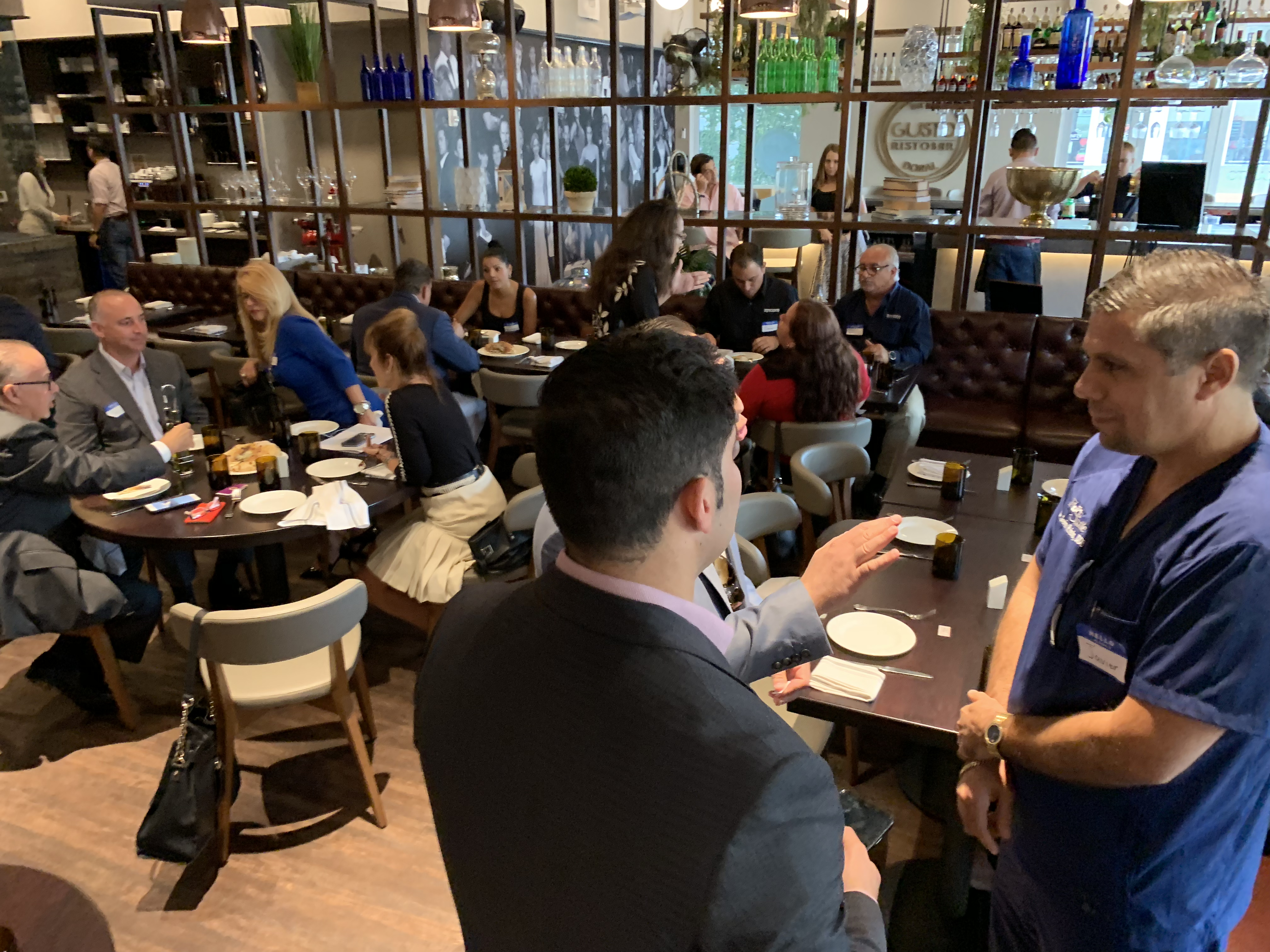 Doral Chamber of Commerce introduces Gusto Ristobar Luncheon in Doral, Florida.
