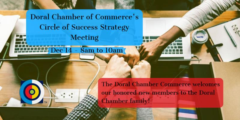 New Member Strategy Session, event by the Doral Chamber of Commerce.