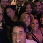 Selfie with a group of people at Copper Blues Grand Opening hosted by the Doral Chamber of Commerce.