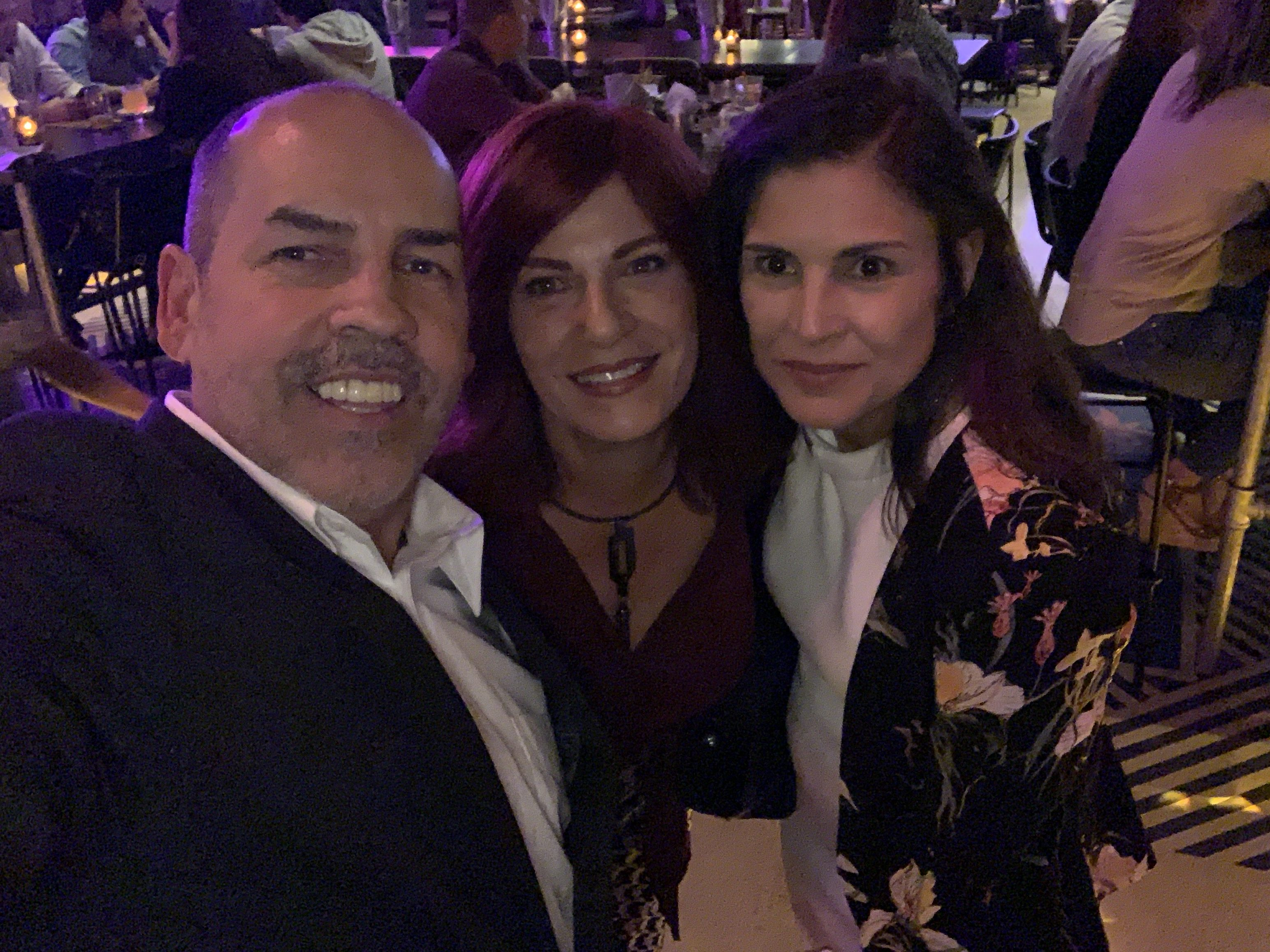 Manny Sarmiento, selfie with others at the Copper Blues Improv Grand Opening event hosted by the Doral Chamber of Commerce.