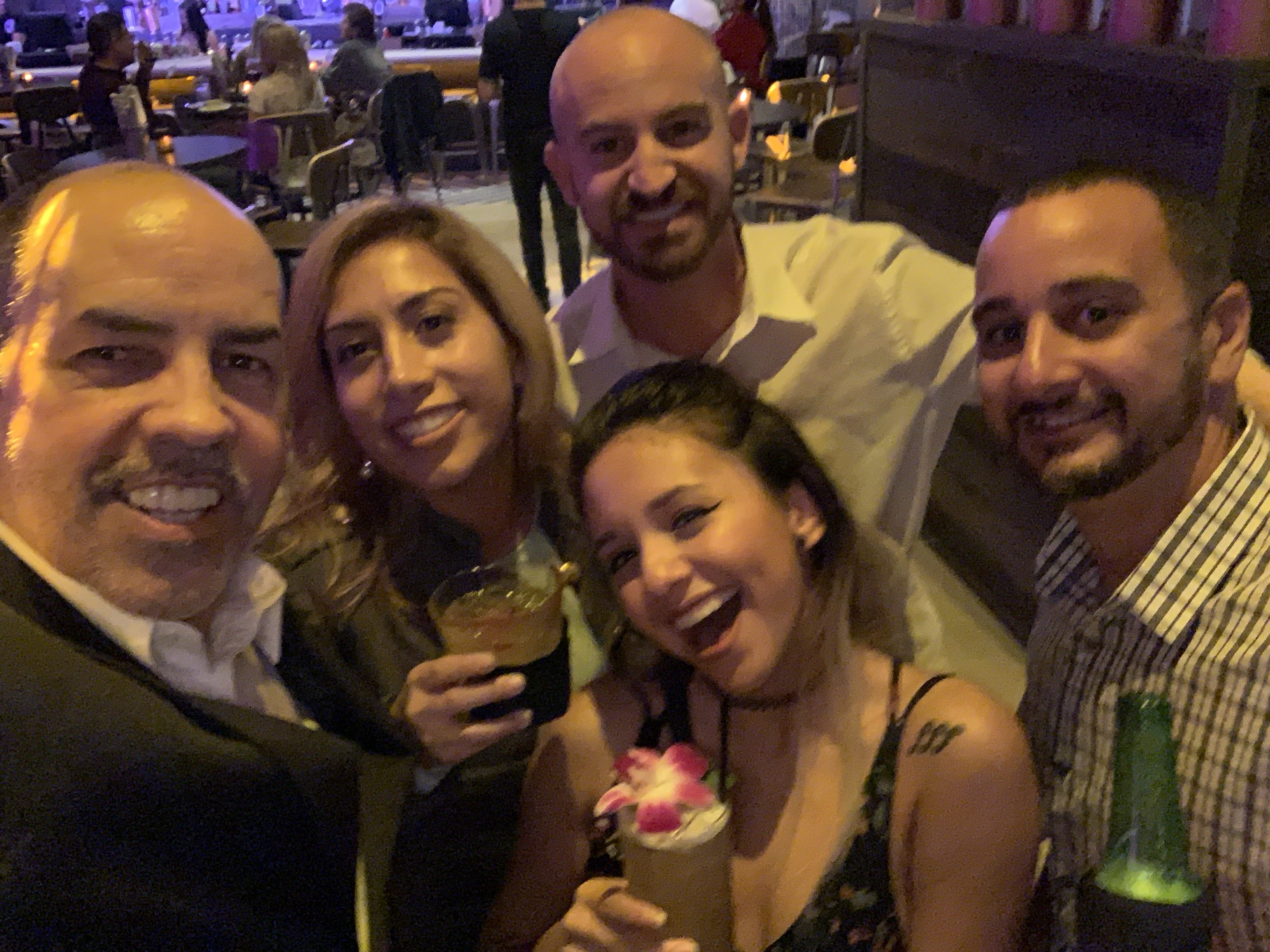 Selfie at Copper Blues Improv Grand Opening, hosted by the Doral Chamber of Commerce.