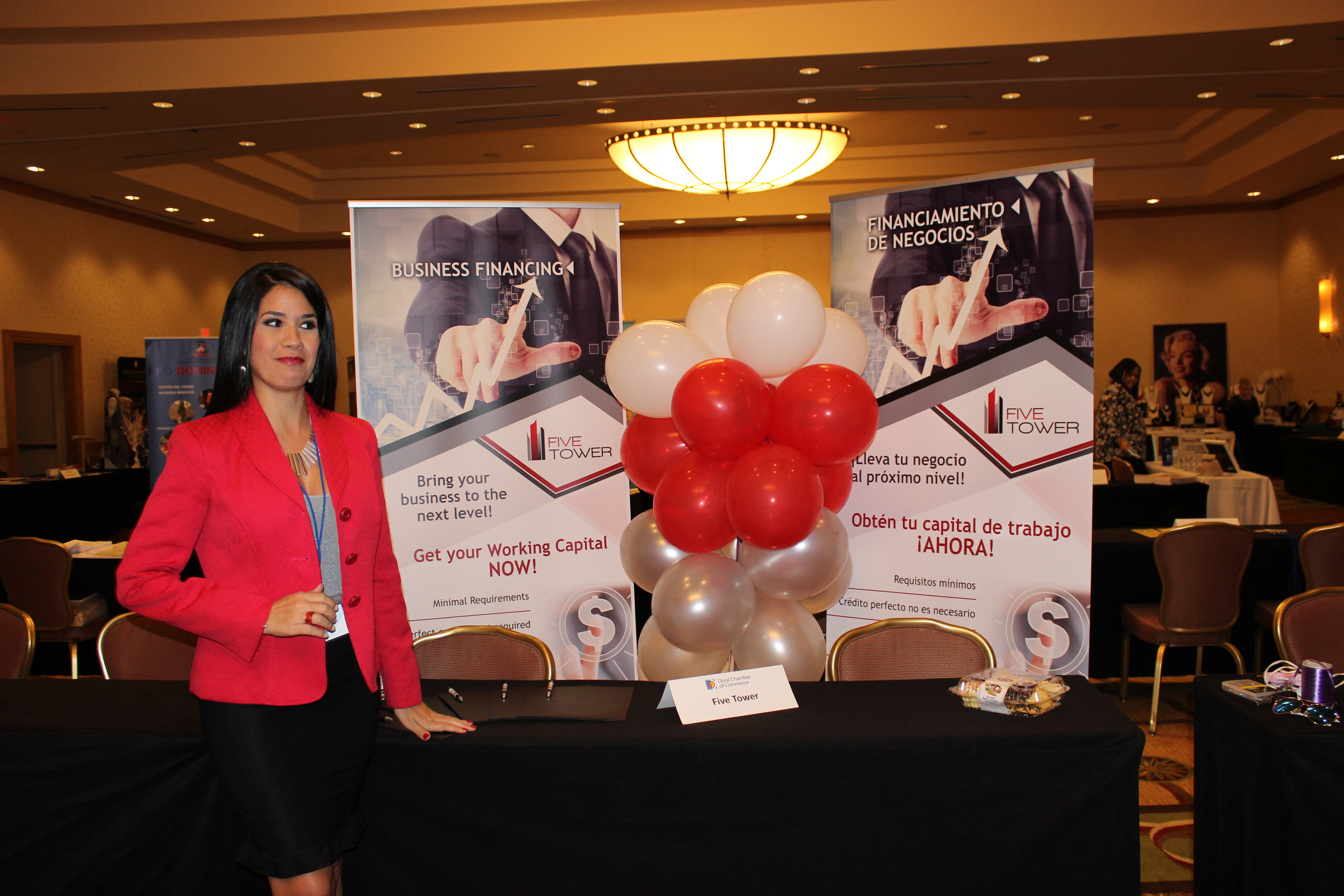 Five Tower representing business in ExpoMiami 2018 hosted by the Doral Chamber of Commerce.