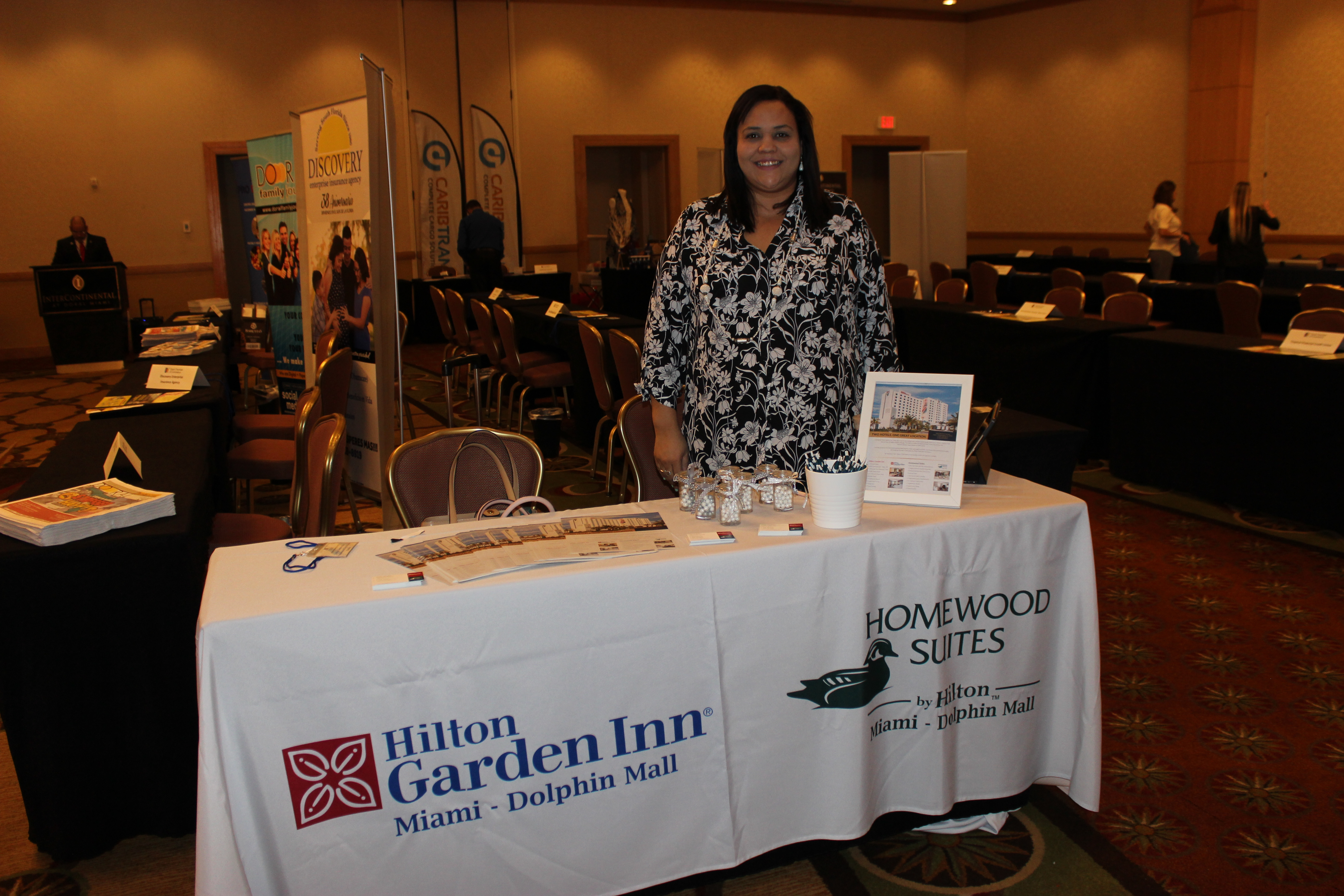 Hilton Garden Inn and Homewood Suites representing business in ExpoMiami 2018 hosted by the Doral Chamber of Commerce.