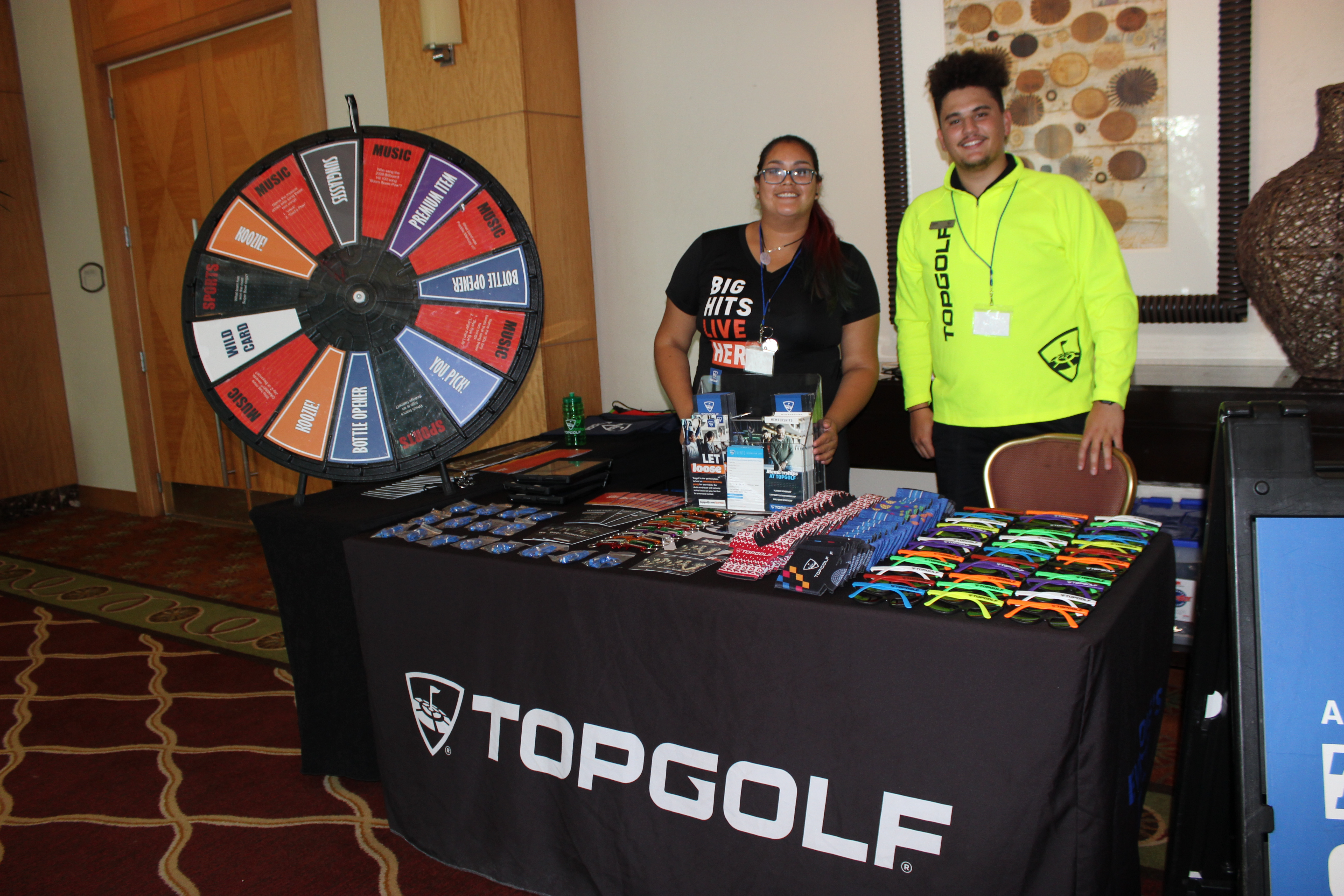 TopGolf representing business in ExpoMiami 2018 hosted by the Doral Chamber of Commerce.
