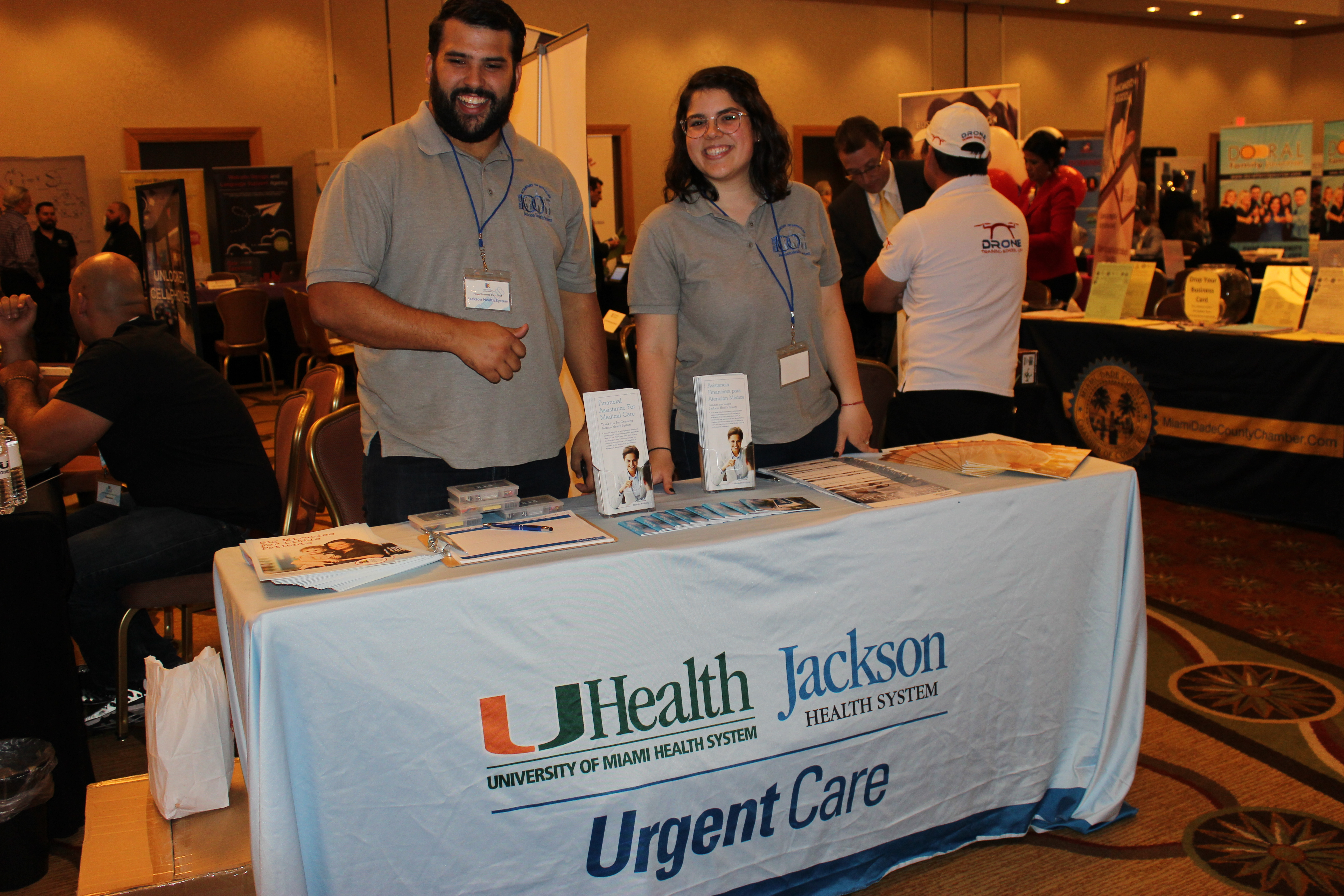 Jackson Health System representing business in ExpoMiami 2018 hosted by the Doral Chamber of Commerce.