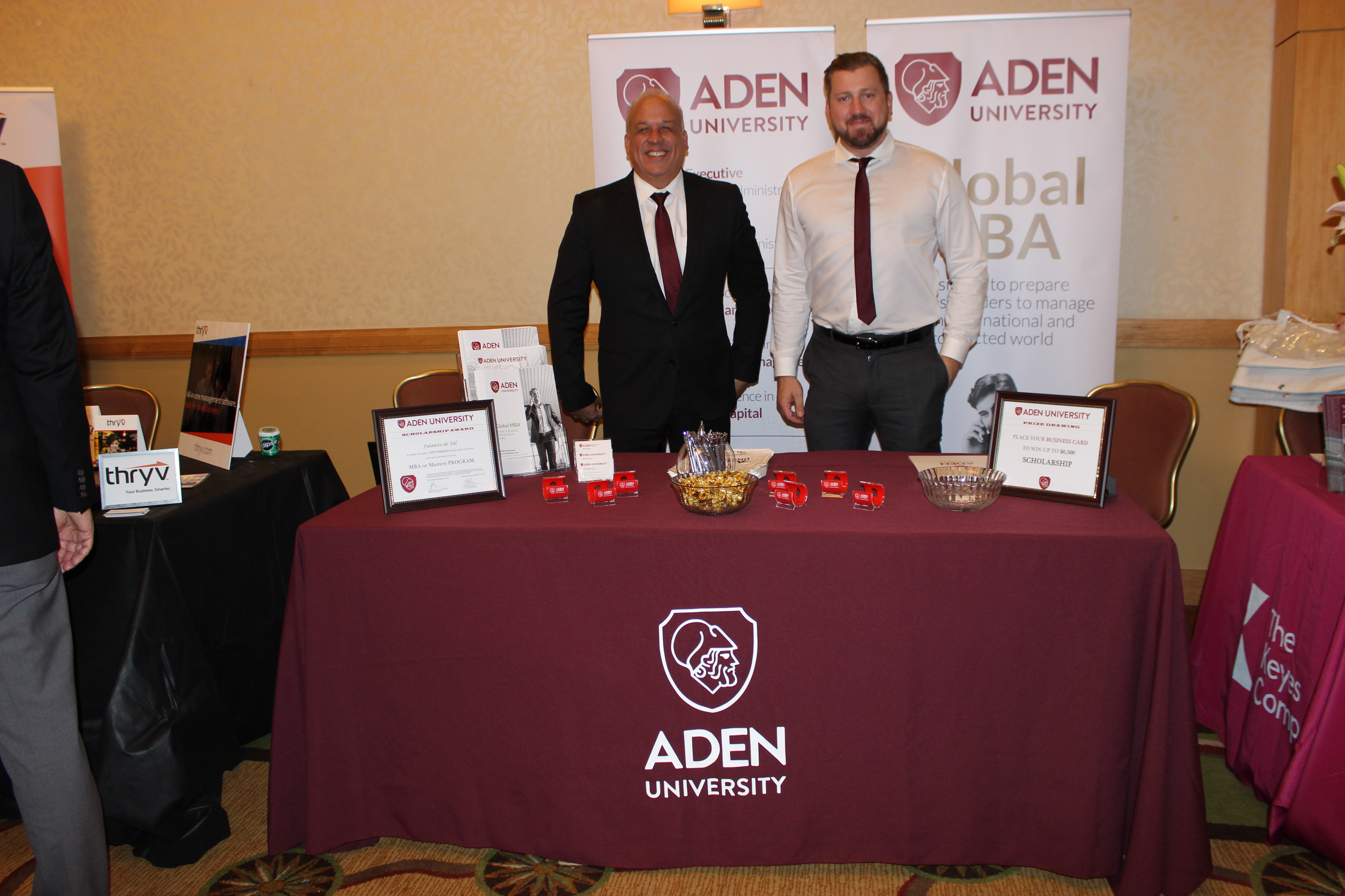Aden University representing business in ExpoMiami 2018 hosted by the Doral Chamber of Commerce.