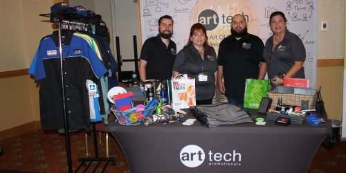 Art Tech Promotionals representing business in ExpoMiami 2018 hosted by the Doral Chamber of Commerce.