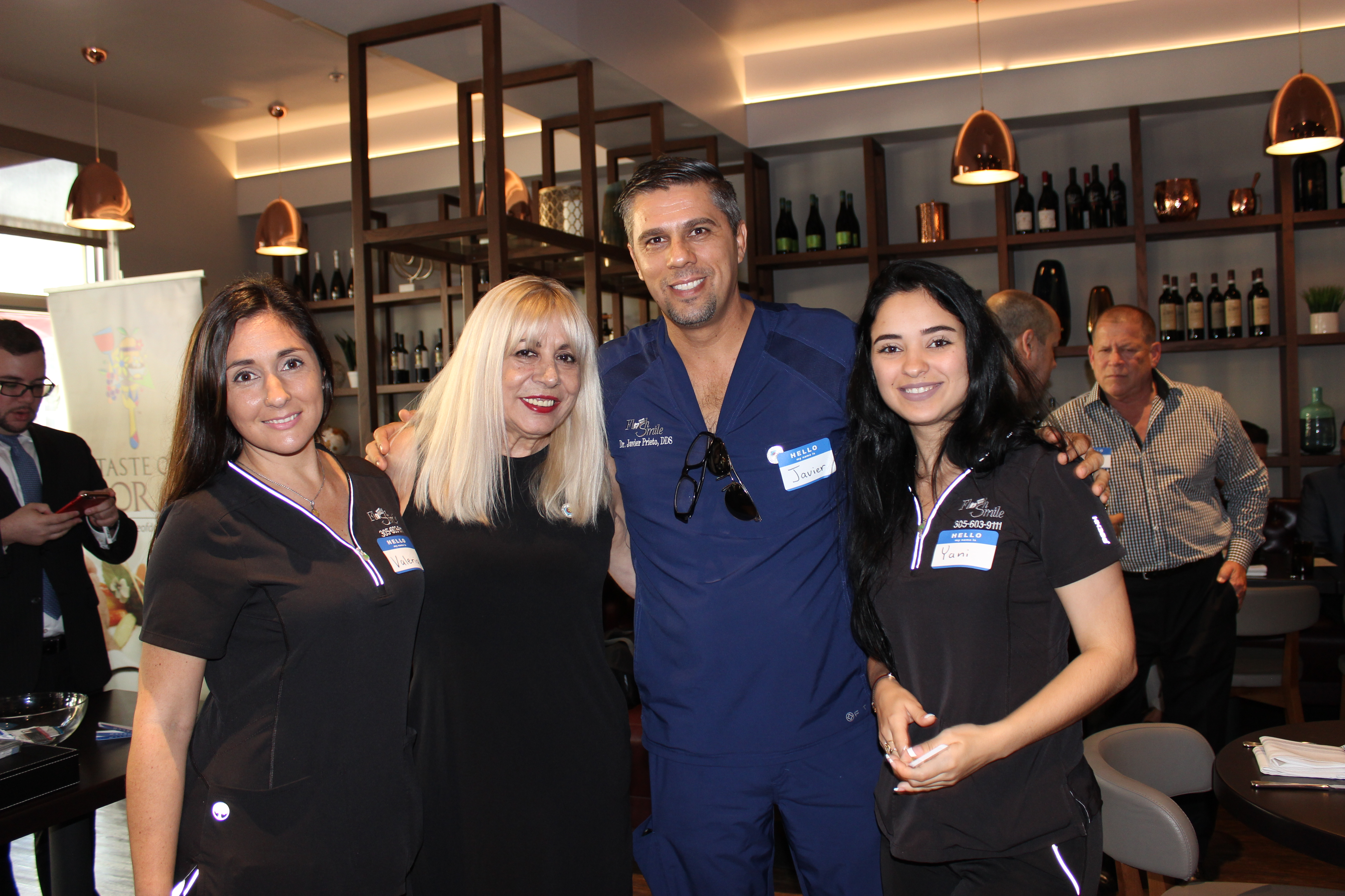 Doral Chamber of Commerce introduces Flash Smile Dental Dr. Javier Prieto in Gusto Ristobar Luncheon.