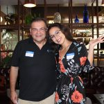 Doral Chamber of Commerce introduces Cesar and Cynthia in Gusto Ristobar Luncheon.