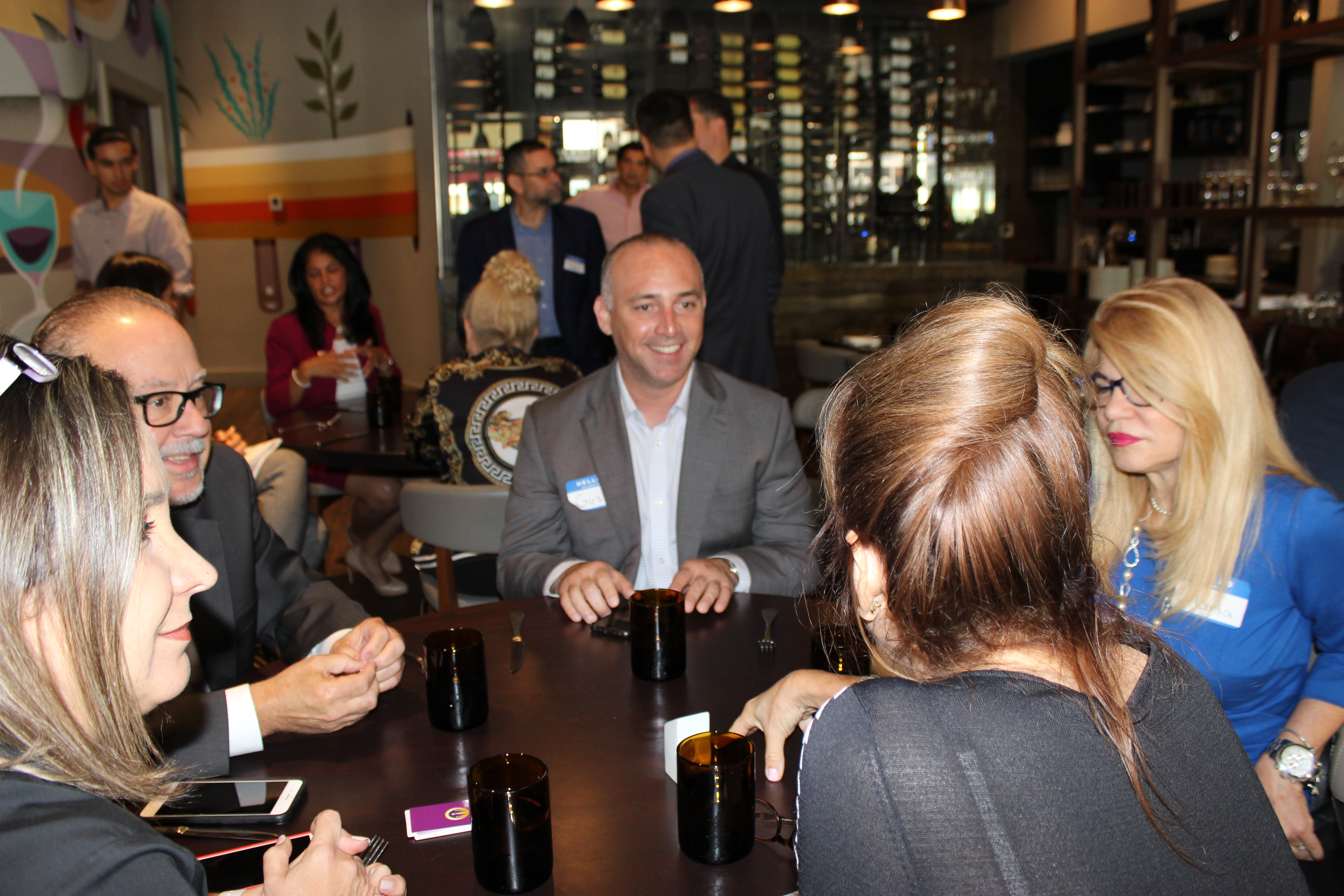 Group Networking at Gusto Ristobar hosted by the Doral Chamber of Commerce.