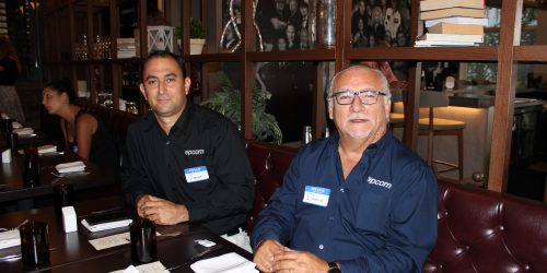 Doral Chamber of Commerce, Gusto Ristobar Luncheon two members from same company.