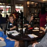 Doral Chamber of Commerce introduces a full table of guests in Gusto Ristobar luncheon.