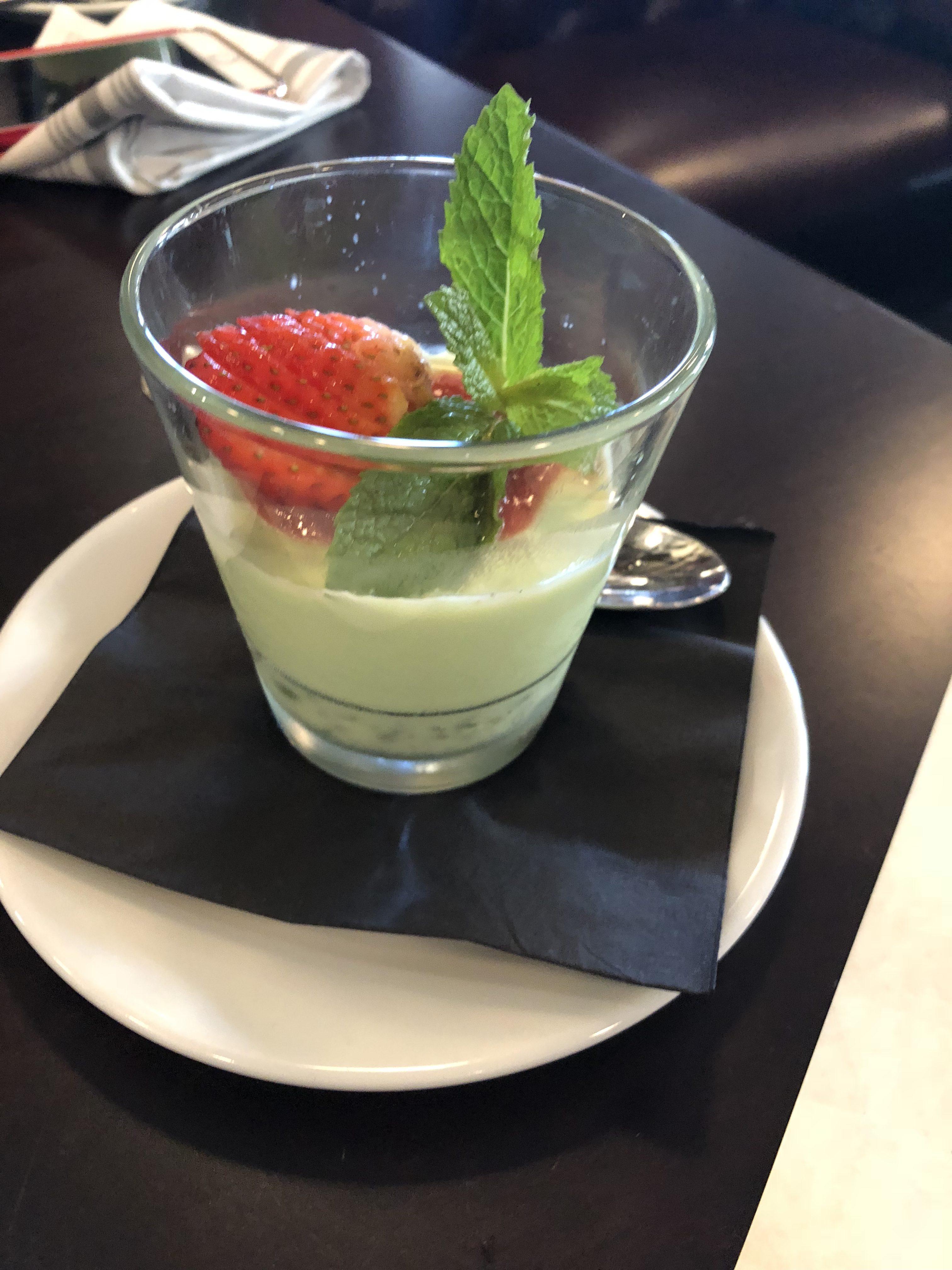 Strawberry delightful dessert by Gusto Ristobar.