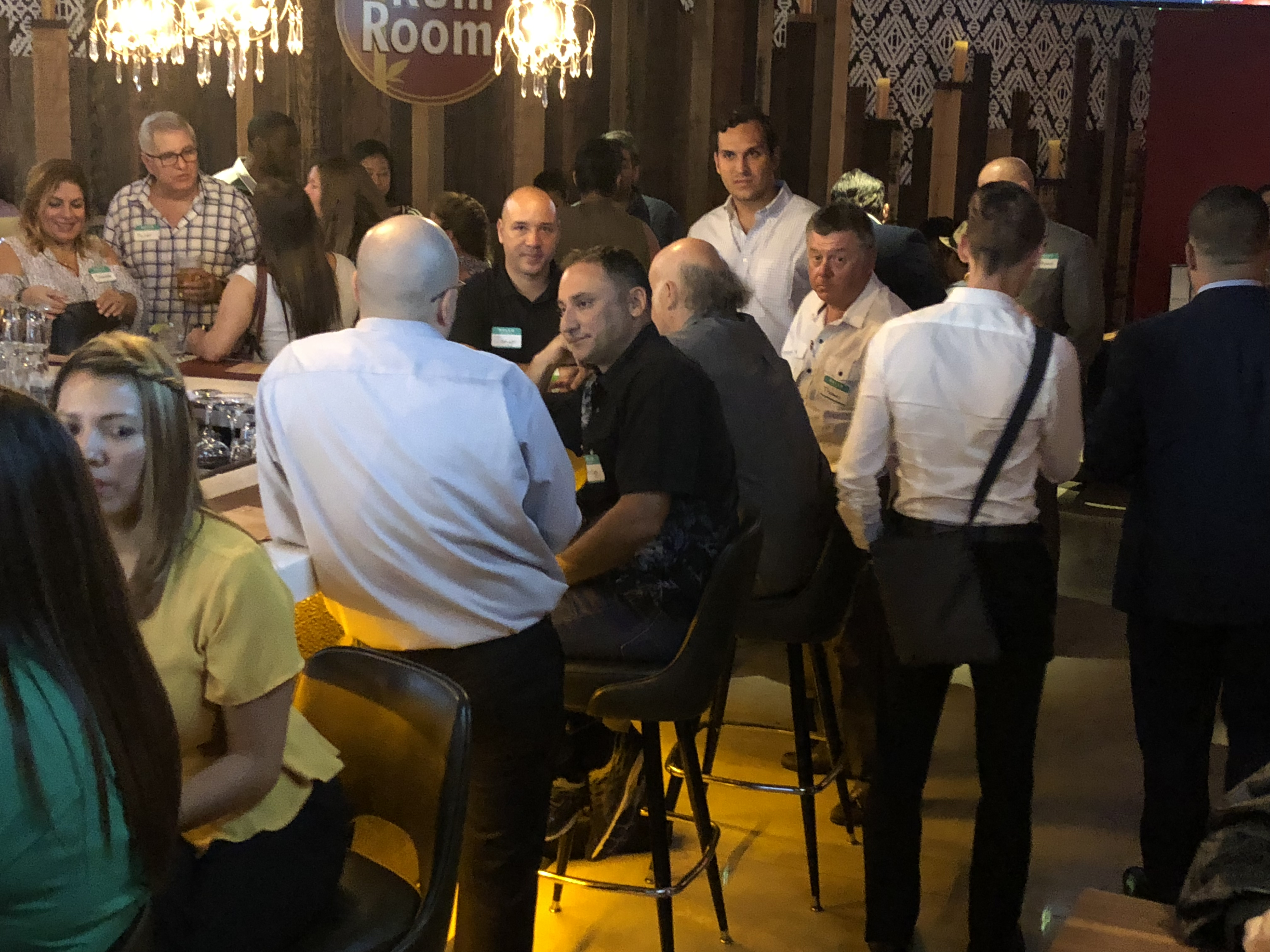 King's Bowl Business Networking at the bar, a Doral Chamber of Commerce event.