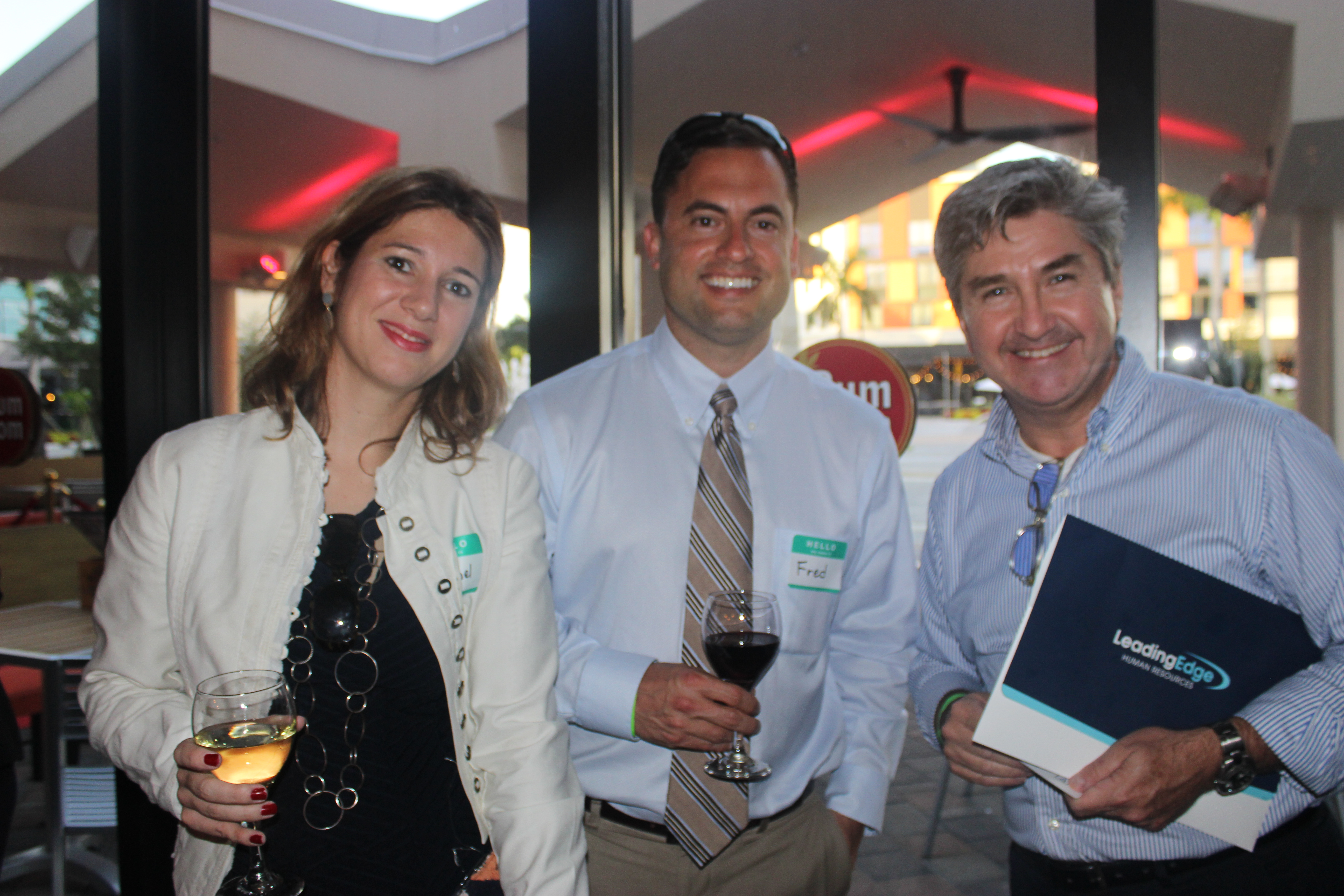Group Photo in Doral Chamber of Commerce event, Kings Bowl Business Networking.
