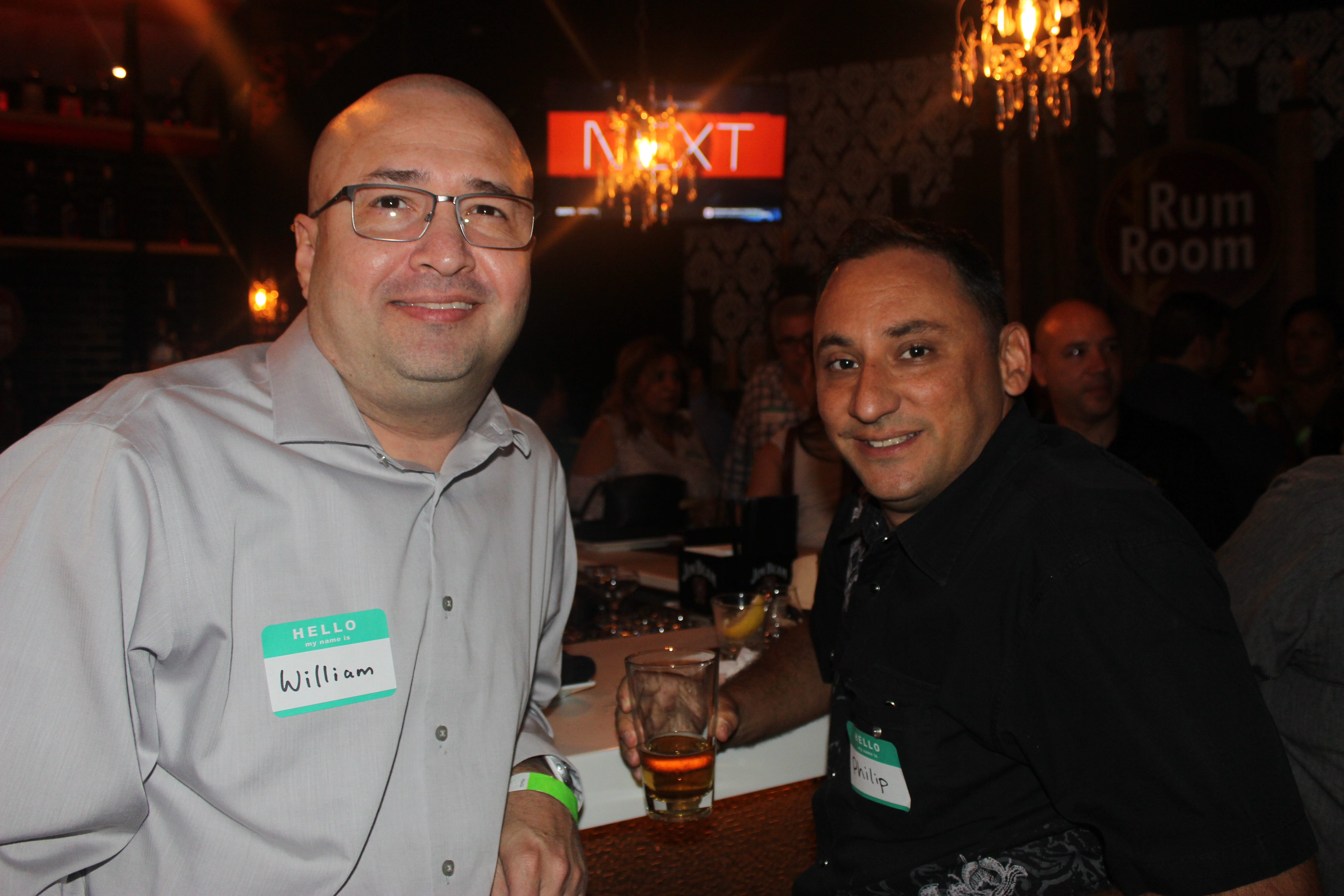 Philip and William, members of the Doral Chamber of Commerce in King's Bowl Business Networking.