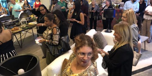 Fun gathering at Mirador Apartments Grand Opening hosted by the Doral Chamber of Commerce.