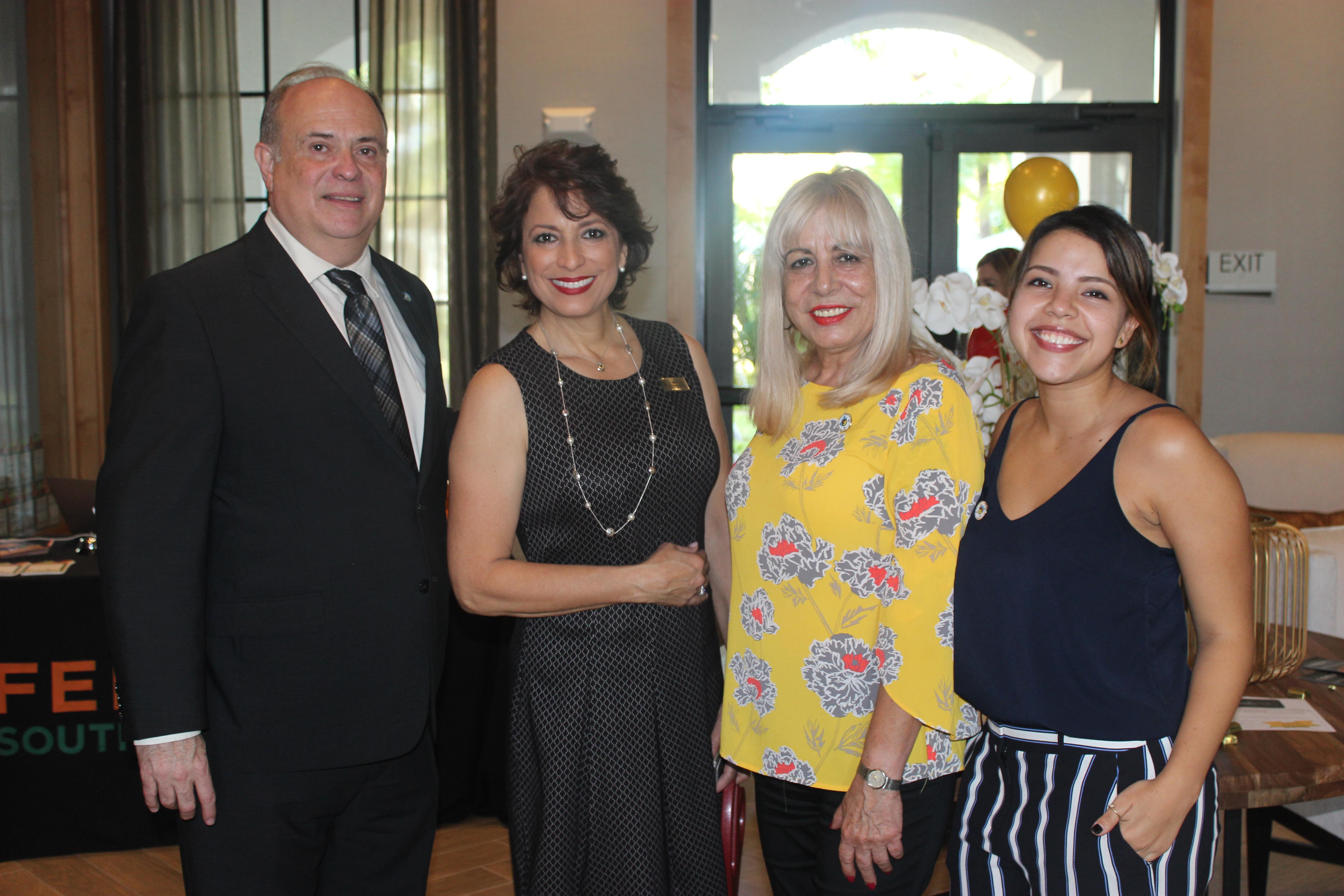 Group photo with Mayor at Mirador Apartments Grand Opening.