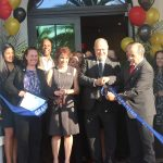 Ribbon cutting at Mirador Apartments Grand Opening hosted by the Doral Chamber of Commerce.