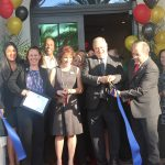 Ribbon cutting with mayor at Mirador Apartments Grand Opening, hosted by the Doral Chamber of Commerce.