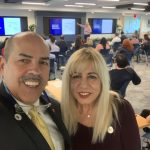 Doral Chamber of Commerce introduces DCC 21st Century Technology event, selfie with Manny Sarmiento and Carmen Lopez.