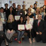 Doral Chamber of Commerce introduces Circle of Success event, group photo with all awarded for being new members.