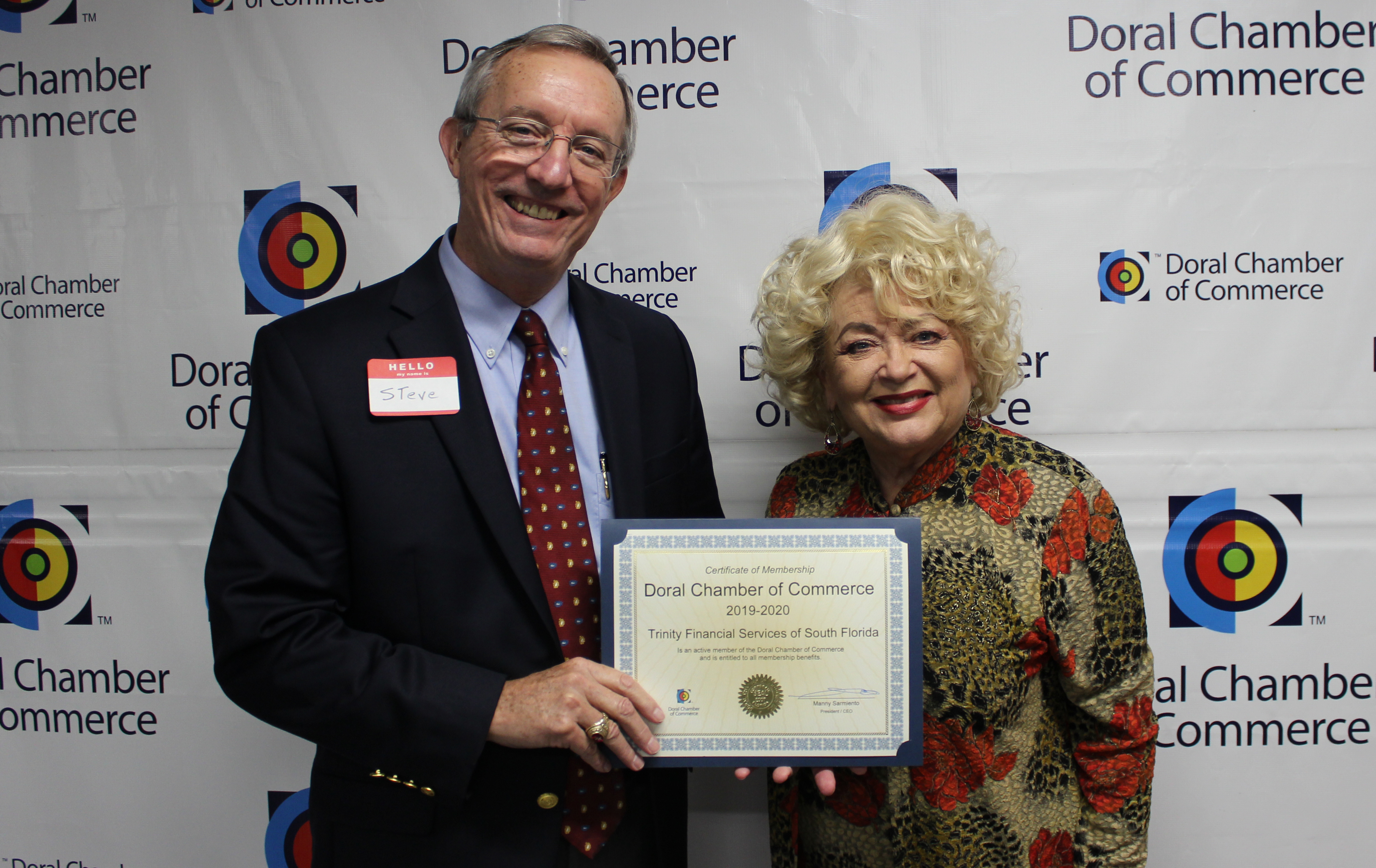Doral Chamber of Commerce introduces Circle of Success event, photo with Blanche de Jesus.