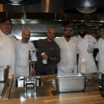 Doral Chamber of Commerce introduces Novecento Grand Opening, chefs taking a group photo.