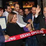 Doral Chamber of Commerce introduces Novecento Grand Opening, ribbon about to be cut for Grand Opening.