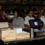 Doral Chamber of Commerce introduces Novecento Grand Opening, people waiting for their order.