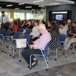 Doral Chamber of Commerce introduces DCC 21st Century Technology event, members settling and learning from the hosts.