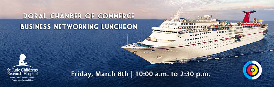 Doral Chamber of Commerce introduces Business Networking Luncheon at Carnival Cruise Victory.