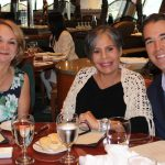 Doral Chamber of Commerce Carnival Cruise Luncheon 2019, Networking Event in Miami, Florida. Group photo at a table in Carnival Cruise dining hall.