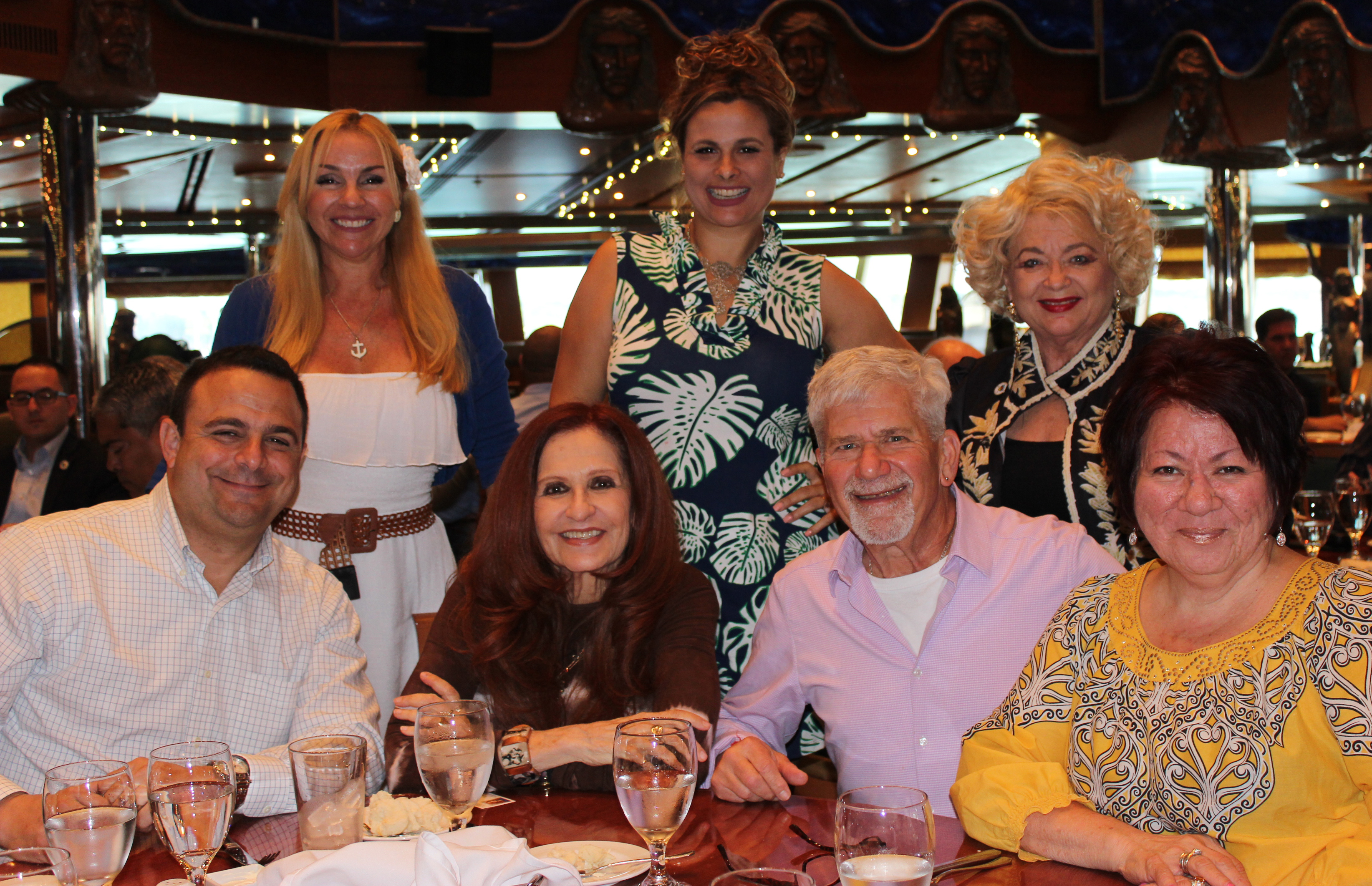 Doral Chamber of Commerce Carnival Cruise Luncheon 2019, Networking Event in Miami, Florida. Members and non-members taking a group photo together.