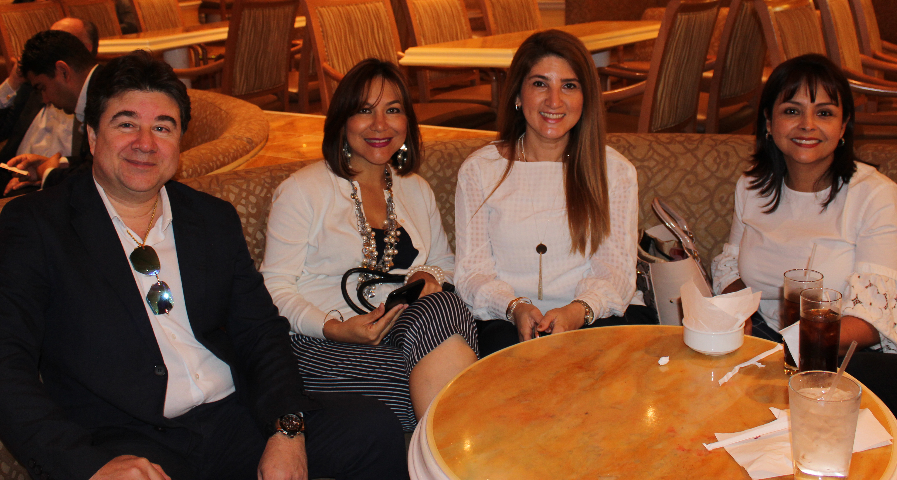 Doral Chamber of Commerce Carnival Cruise Luncheon 2019, Networking Event in Miami, Florida. Group enjoying themselves and networking at the lounge.