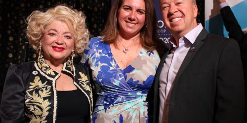 Doral Chamber of Commerce Carnival Cruise Luncheon 2019, Networking Event in Miami, Florida. Group photo with Blanche De Jesus.