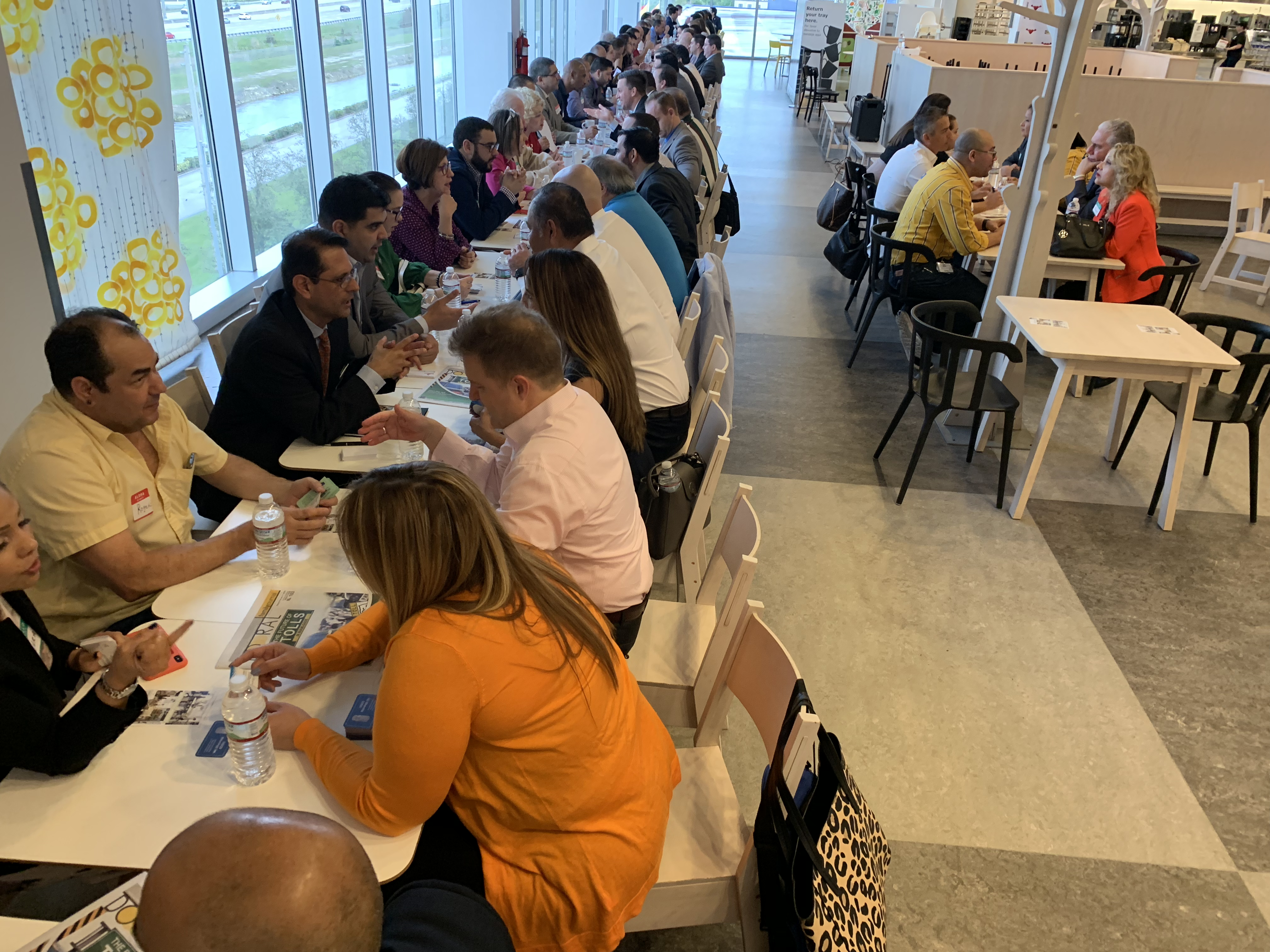 Doral Chamber of Commerce IKEA Speed Networking Event, hundreds of members talking about their business.