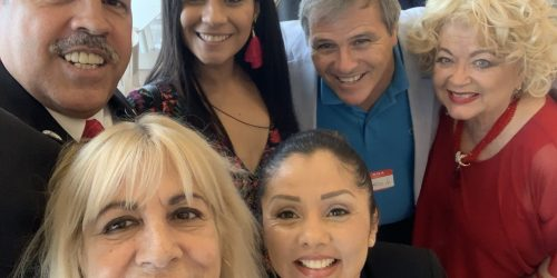 Doral Chamber of Commerce IKEA Speed Networking Event, selfie group photo with DCC Members at the IKEA event.