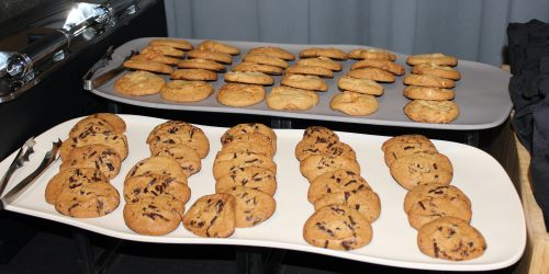 Doral Chamber of Commerce introduces cookies at Topgolf Doral Networking Luncheon Event.
