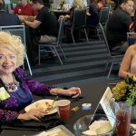 Doral Chamber of Commerce introduces Danielle Vargas and Blanche de Jesus to Topgolf Doral Networking Luncheon.